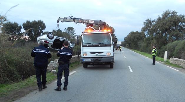 Spectaculaire sortie de route à Ghisonaccia. Une femme de 77 ans polytraumatisée