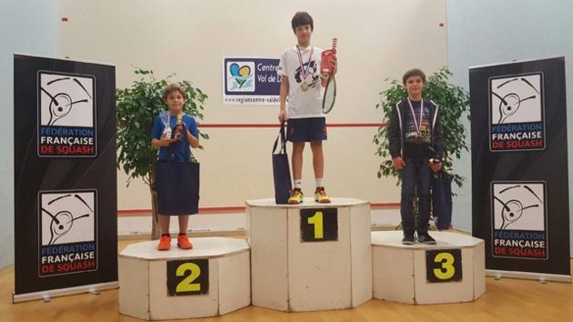 Antonin Romieu champion de France de Squash U11