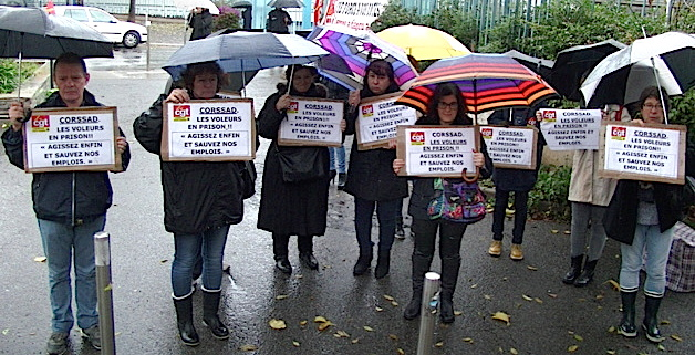 La CGT manifestait encore lundi devant la préfecture de Haute-Corse