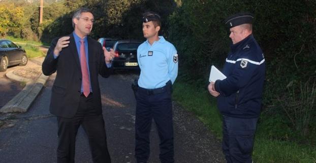Jérôme Seguy, sous-préfet de Calvi était sur place aujourd'hui, aux côtés des gendarmes