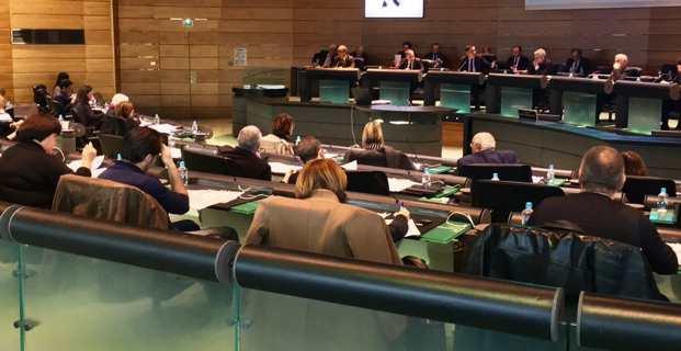 Réunion pluripartite au Conseil départemental de Haute-Corse.