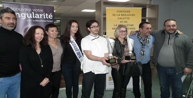 Christophe Starck (Boulangerie Foch Ajaccio) double lauréat du concours de la meilleure galette 2017