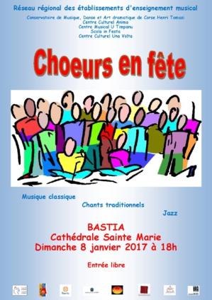 Bastia : Chœurs en concert ce dimanche à Sainte Marie
