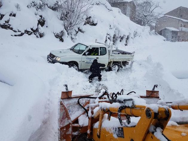 Les services communaux ont été mis à contribution au cours de l'épisode neigeux.
