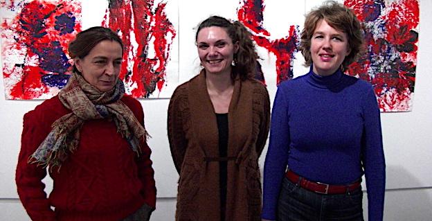 Cécile Orsoni à droite, avec à sa droite, Juana Macari, directrice de Una Volta