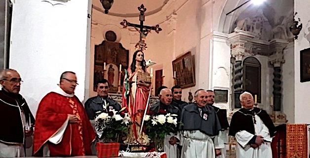 Calvi : Bénédiction de la statue restaurée de Sainte Dévote