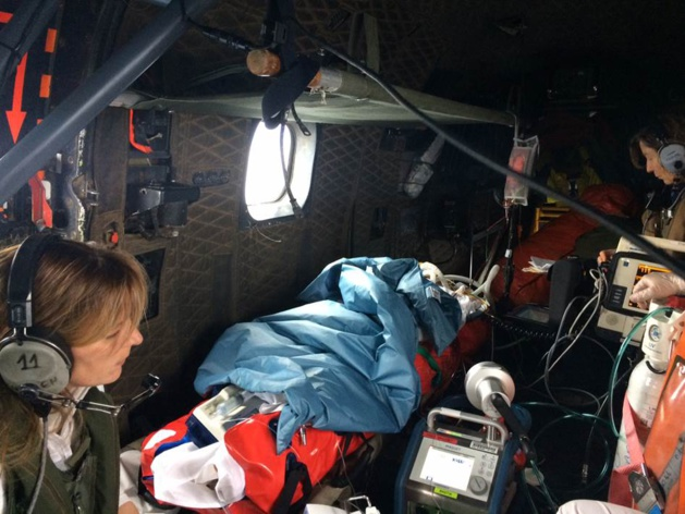 Solenzara : Le Puma de la BA 126 procède à une évacuation sanitaire