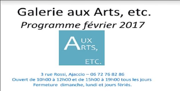 Le programme de La Galerie aux Arts à Ajaccio