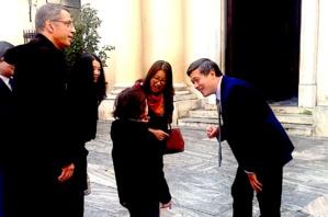 Zhu Liying, Consul général de Chine à Marseille a pu converser en chinois avec un élève de Xin Devichi il y a quelques mois dans les rues de Bastia
