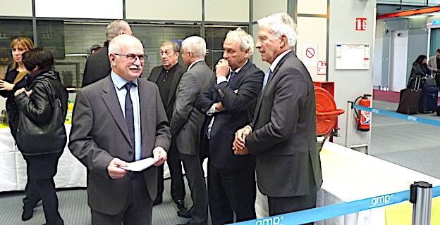MM. Biancucci, Dandrieux et Morel, directeur de Marseille Marignane