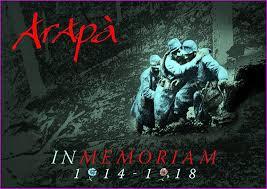 21 titres chantés par Arapà en mémoire des hommes victimes de ce premier conflit mondial.