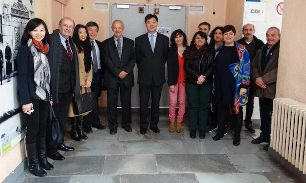 Bastia : L'ambassadeur de Chine au collège Simon-Vinciguerra