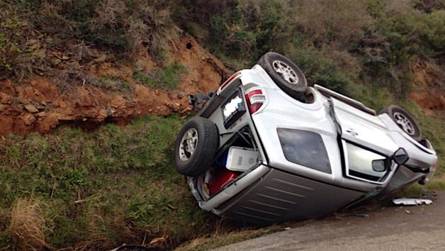 Santa-Severa : Spectaculaire accident de la route