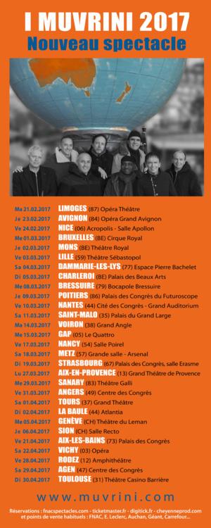 I Muvrini 2017: la tournée du nouveau spectacle