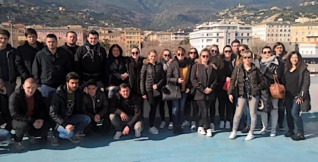 Semaine sous le signe de l'Italie pour 23 étudiants en BTS du Lycée Paul-Vincensini de Bastia