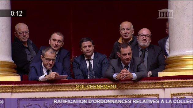 Les présidents du Conseil exécutif, de l'assemblée de Corse, de l'office des transports et de l'Adec : Satisfaction de mise après le feu vert du Parlement.