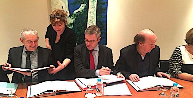 """Le Comité restreint """"signataire"""" du SDSF : l'Etat, le Conseil Départemental, la CTC, la CAF de Haute-Corse et la MSA"""