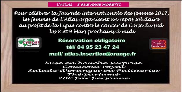 Repas solidaire à l'Atlas d'Ajaccio