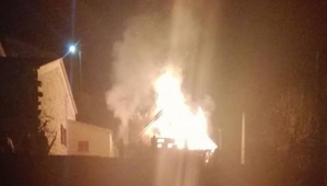 Bastelica : Un chalet détruit par les flammes