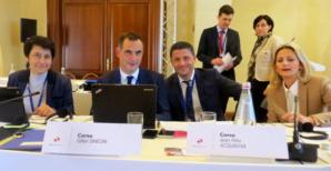 Fabienne Giovanini, Gilles Simeoni, Jean-Félix Acquaviva et Nanette Maupertuis, à la conférence des îles à Gozo..
