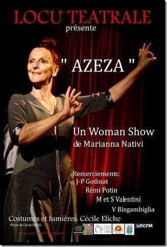 "One Woman Show ""Azeza"" de et avec  Marianna Nativi"