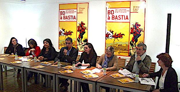 Les 24es  rencontres de la bande dessinée et de l'illustration de Bastia sur les rails