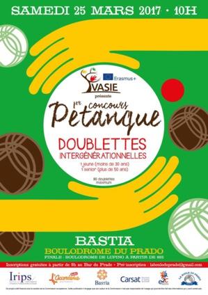 Bastia : Un concours de pétanque intergénérationnel