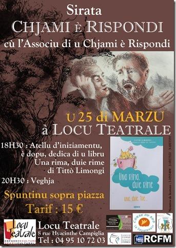 Sirata di Chjami è Rispondi u 25 di marzu a Locu Teatrale