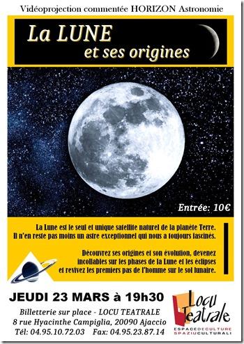 Vidéoprojection a Locu Teatrale : la lune et ses origines