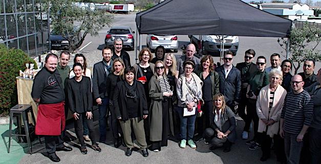 Journalistes européens et producteurs corses réunis pour cette opération initiée par la CCI2B