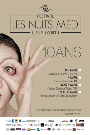 Les Nuits Med – U filmu cortu, dix ans! Du 1er au 21 avril 2017