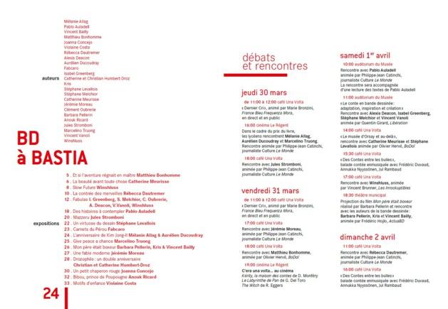 Bastia : Ouverture des 24èmes  rencontres de la bande dessinée et de l'illustration