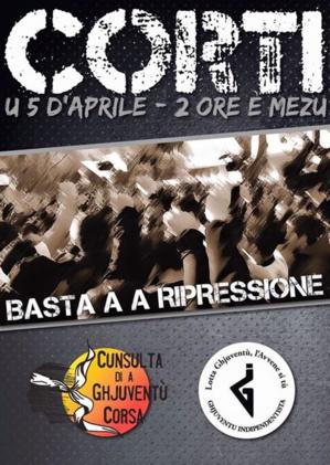 Corti : A Cunsulta di a Ghjuventù Corsa et la Ghjuventù Indipendentista appellent à la manifestation