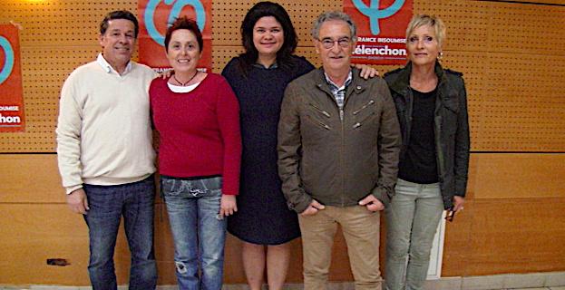 Claude Franceschi, Catherine Laurenti, Raquel Garrido, Jacques Casamarta et Christine Malfroy