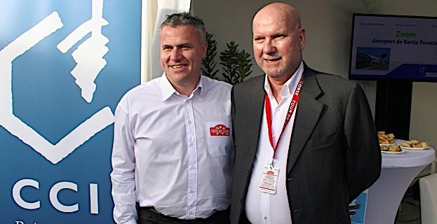 David Serieyes, directeur du Tour de Corse, et Jean Dominici, président de la CCI de Haute-Corse
