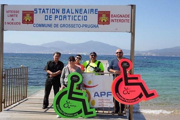 Pascal Baron termine la 11 ème étape de son défi à Ajaccio