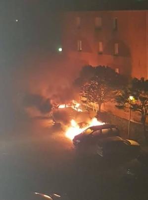 Ajaccio : Plusieurs voitures détruites par un incendie