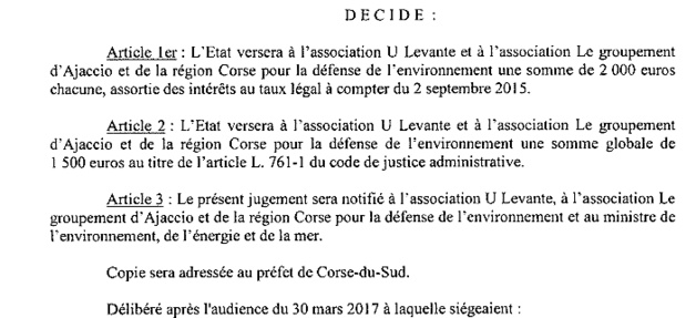 Coti Chjavari : Le tribunal administratif de Bastia condamne l'Etat