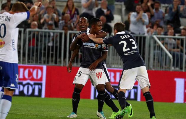 La joie de Malcom après le premier but des Girondins @girondins