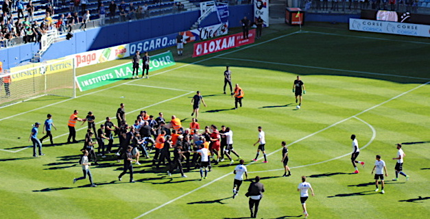 Sporting-Lyon : Cinq personnes en garde à vue à Bastia