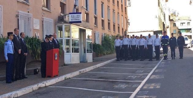Hommage au Capitaine Xavier Jugelé à Ajaccio