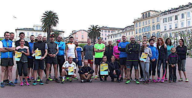 De nombreux coureurs ont participé mercredi à la 1ère reconnaissance du City Trail de Bastia