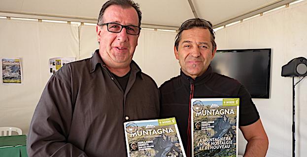 Philippe Pierangeli Directeur de publication du nouveau magazine sur la montagne corse avec Patrick Dagouassat en charge de la vidéo (Kyrna vidéo)