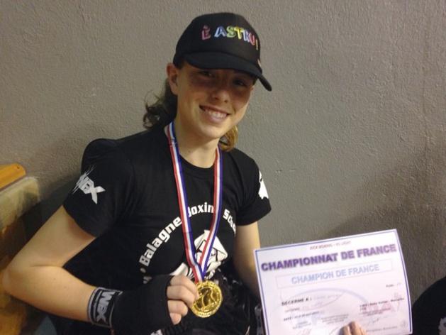 Un nouveau titre de championne de France pour la boxeuse balanine Laura Delogu