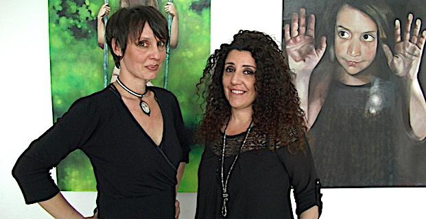 Dominique Fumaroli et Brigitte Brozzu, deux talentueuses artistes peintres