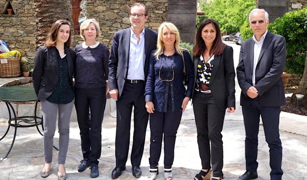 Hélène Haubois, Nathalie Garcia, Christian Mantei, Emmanuelle de Gentili, Véronique Calendini, directrice de l'office de tourisme de l'agglomération de Bastia et Daniel Charavin