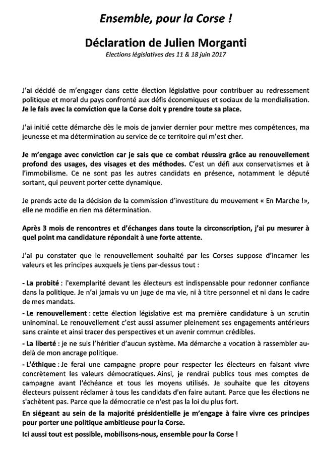 """""""En Marche"""" investit François Orlandi et Francis Giudici en Haute-Corse et Maria Guidicelli et Jean-Charles Orsucci en Corse-du-Sud"""