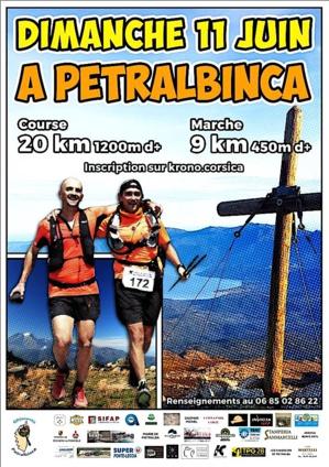 Trail de A Petralbinca : Première le 11 Juin !