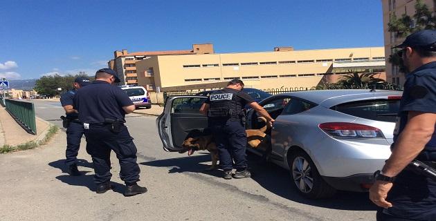 Ajaccio : Contrôle sécurité conjoint DDSP, CRS, police municipale