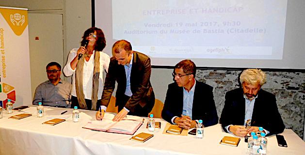 Bastia : Une convention pour favoriser l'accès et le maintien dans l'emploi des personnes handicapées